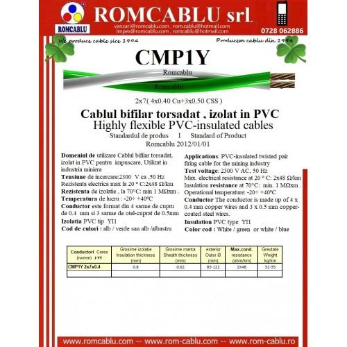 CMP1Y Cablul bifilar torsadat , izolat in PVC pentru  impuscare